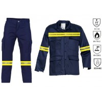 Fire retardant and antistatic work suit Fire retardant & antistatic workwear