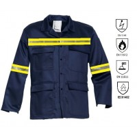 Fire retardant and antistatic work jacket