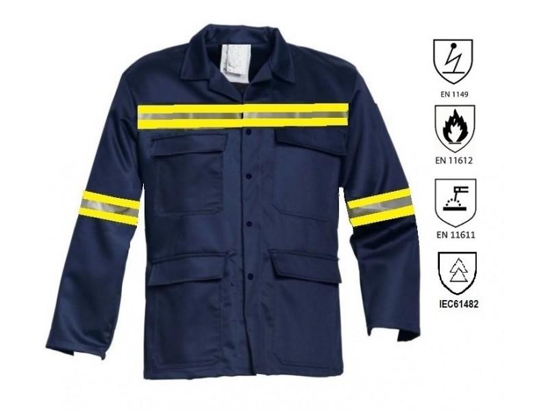 Σακακι εργασιας βραδυκαυστο και αντιστατικο Ενδυματα εργασιας αντιστατικα και βραδυκαυστα (ΕΝ11612, ΕΝ11611, ΕΝ1149)