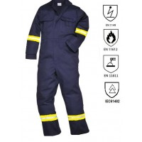 Fire retardant and antistatic overall Fire retardant & antistatic workwear