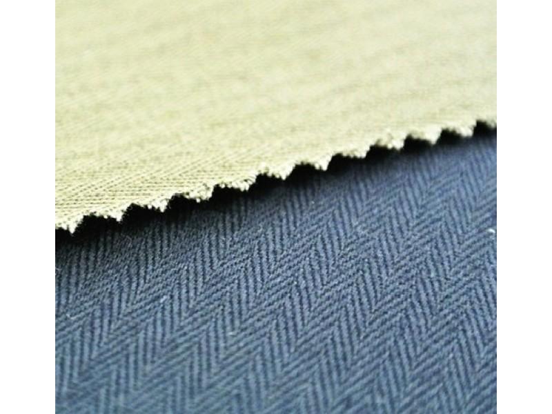 FABRIC HERRINGBONE F/B COTTON 100% 300gr/m2 Cotton fabrics for workwear