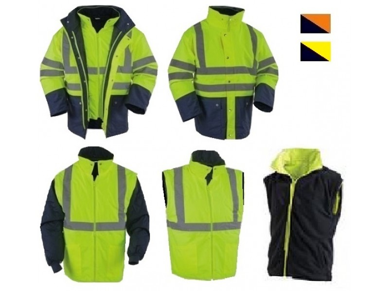 Jacket υψηλης ευκρινειας EN471, EN343