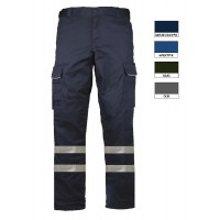 Work pant with two reflective tapes LEGA PLUS and work trousers