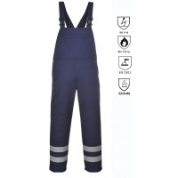 Fire retardant and antistatic bib pant