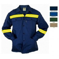 Work jacket LEGA with two color reflective tape